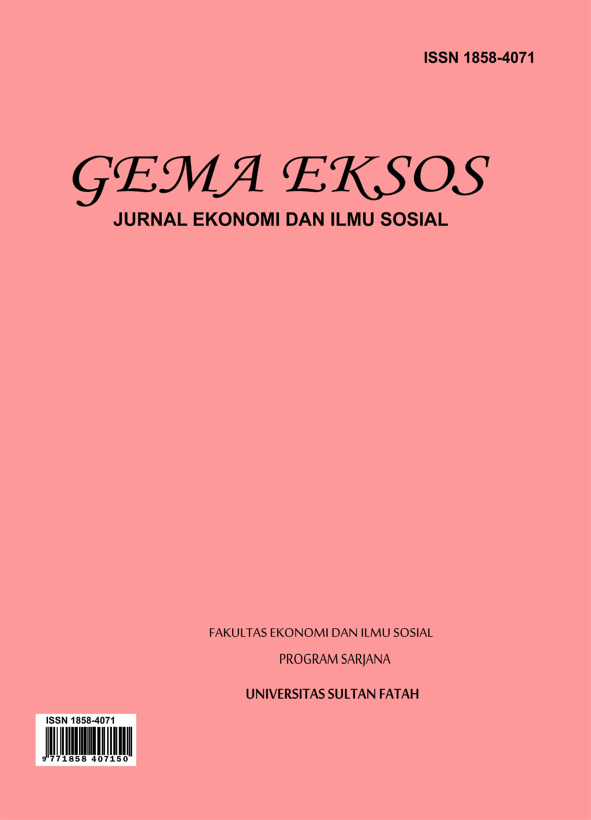 Cover Jurnal Gema Eksos